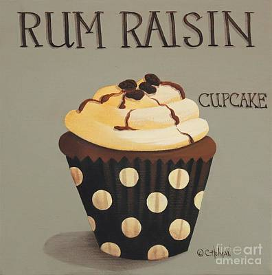 Rum Raisin Cupcake Poster by Catherine Holman