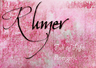 Rumer - Full Of Life Energetic. Poster by Christopher Gaston