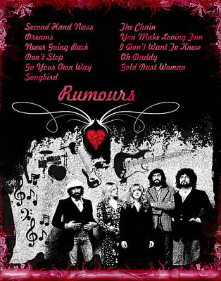 Rumours Poster by Michael Damiani