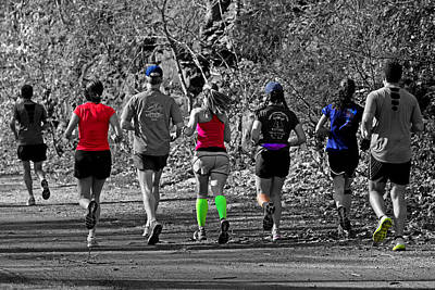 Run In The Park Poster by Tom Gari Gallery-Three-Photography