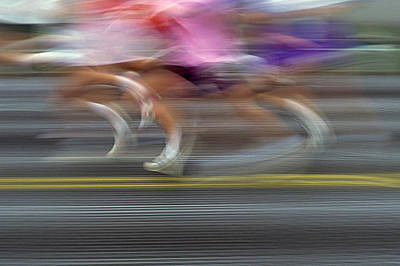 Runners Blurred Poster by Jim Corwin