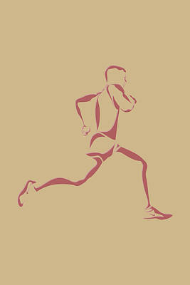 Running Runner14 Poster by Joe Hamilton