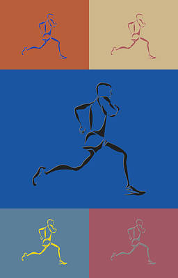 Running Runner2 Poster by Joe Hamilton