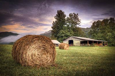 Rural American Farm Poster