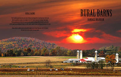 Poster featuring the photograph Rural Barns  My Book Cover by Randall Branham