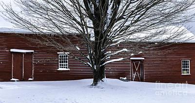 Rural Farmhouse Simplicity - A Winter Scenic Poster by Thomas Schoeller