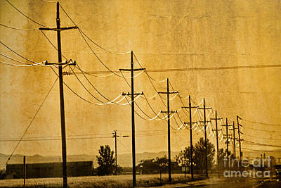 Rural Power Lines Poster