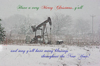 Rural Texas Christmas Poster by Robyn Stacey