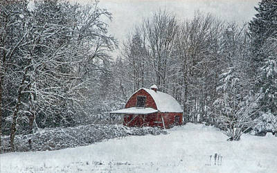 Rural Winter Poster by Angie Vogel