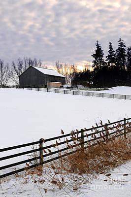 Rural Winter Landscape Poster