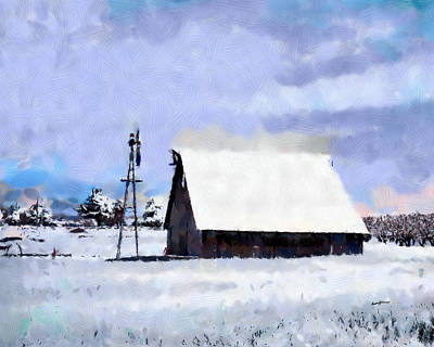 Rural Winter Scene Poster by Anthony Caruso