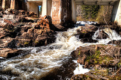 Rushing Waters Marquette 2 Poster by Deborah Smolinske
