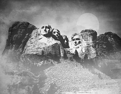 Poster featuring the photograph Rushmore At Night by Roy  McPeak
