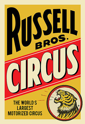 Russell Circus Poster by Gary Grayson