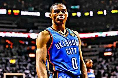 Russell Westbrook Portrait Poster