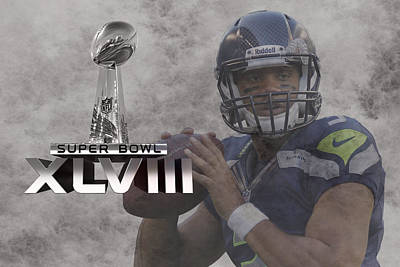 Russell Wilson Poster by Joe Hamilton