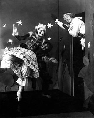 Russian Ballet Dancers Wearing Elaborate Costumes Poster