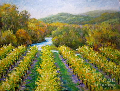 Russian River Vineyard Poster by David LeRoy Walker