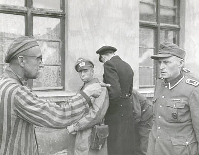 Russian Slave Laborer Points Out Nazi Poster by Everett