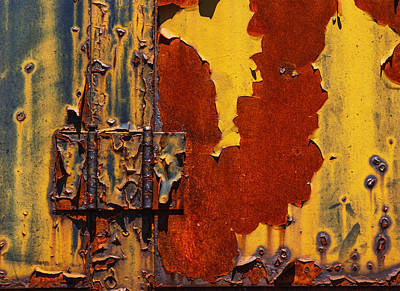 Rust Abstract Poster