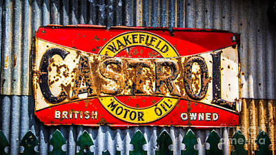 Rusted Sign Poster by Perry Webster