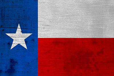 Rusted Texas State Flag Poster