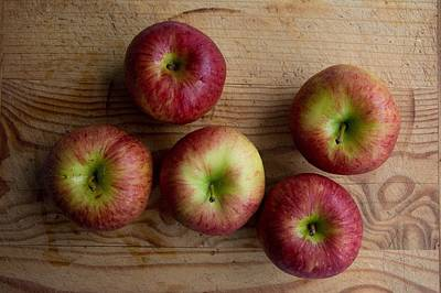 Poster featuring the photograph Rustic Apples by Jocelyn Friis