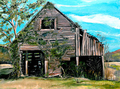 Poster featuring the painting Rustic Barn - Mooresburg - Tennessee by Jan Dappen