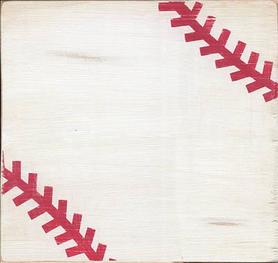 Rustic Baseball Poster by Alli Rogosich