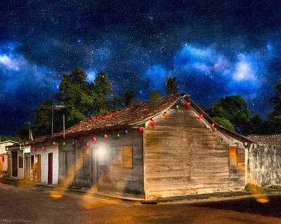 Rustic Beauty Of Costa Rica At Night Poster by Mark E Tisdale