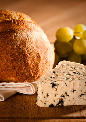 Rustic Bread With Cheese Poster