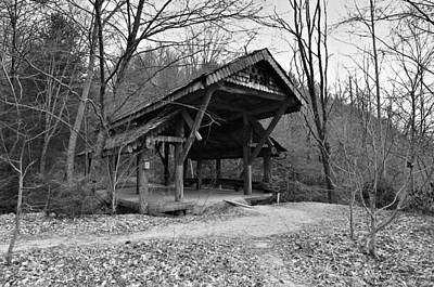 Rustic Covered Bridge Poster by Susan Leggett