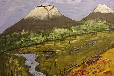 Rustic Mountain Scene Poster