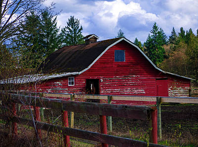 Poster featuring the photograph Rustic Old Horse Barn by Jordan Blackstone