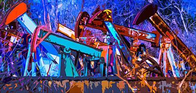 Rustic Pump Jacks 2 Poster