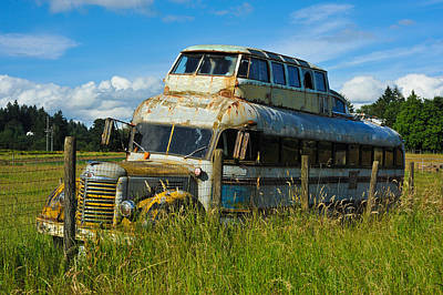 Poster featuring the photograph Rusty Bus by Crystal Hoeveler