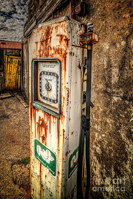 Rusty Gas Pump Poster by Adrian Evans