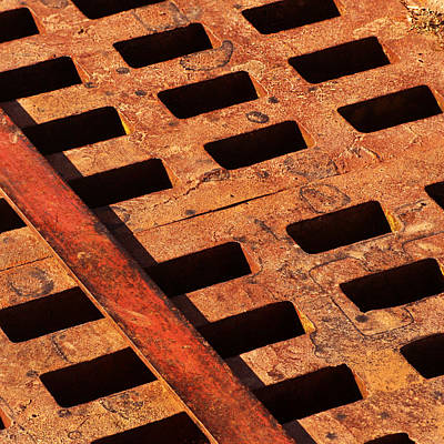 Rusty Grate Poster by Art Block Collections