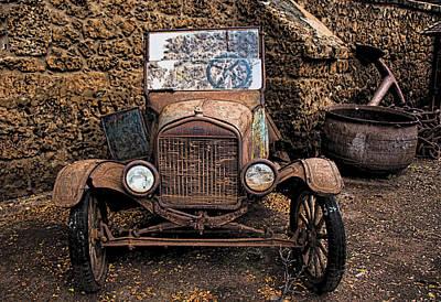 Rusty Ol' Ford II Poster by Kathleen Scanlan