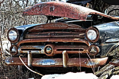Rusty Old Car Poster