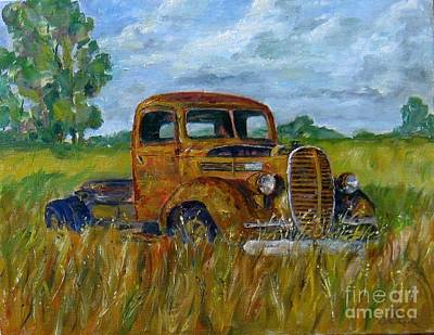 Rusty Old Truck Poster by William Reed