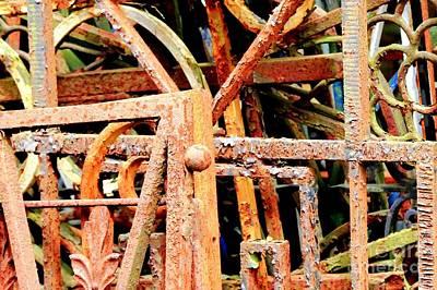 Rusty Railings Poster by Carol Groenen