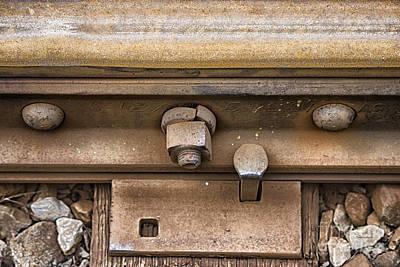 Rusty Railroad Rail Poster