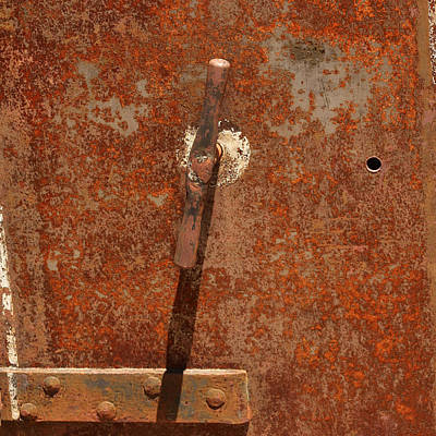 Rusty Safe Front Poster by Art Block Collections