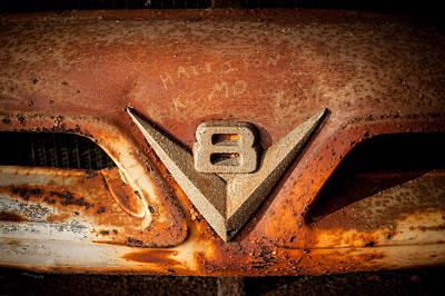 Rusty V8 Poster by Paul Bartoszek