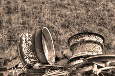 Rusty Vintage Wheels Poster