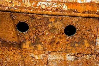 Rusty Wall Of An Abandoned Ship Poster