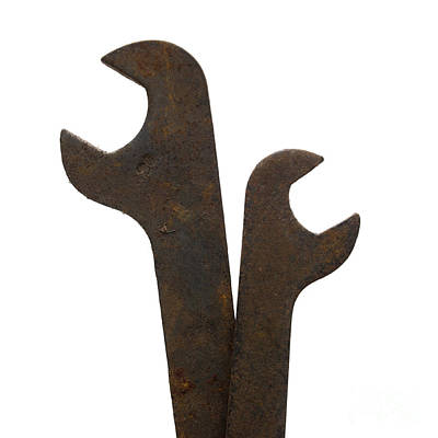 Rusty Wrench Spanner Tool Poster