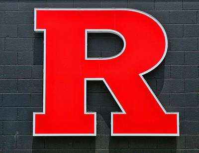 Rutgers Block R Poster by Allen Beatty
