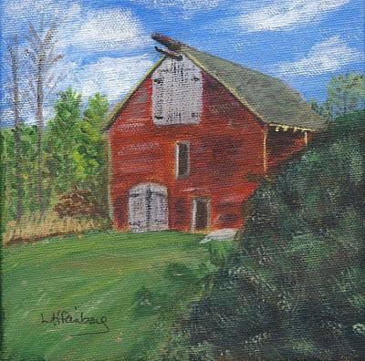 Poster featuring the painting Ruth's Barn by Linda Feinberg